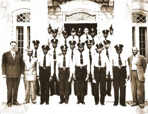 Officers On Steps