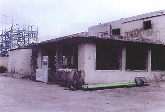 Side view of Building prior to Restoration