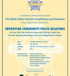 Improving Community-Policing Relations Discussion, Tuesday, February 24 at 7pm